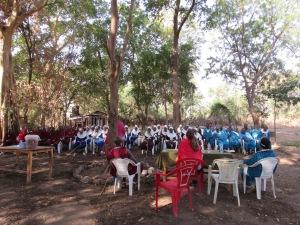 Meeting of Engaruka men's and women's groups at Engaruka campground