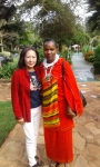Liza Lin, TX Foundation President, with Martha Ole Misiko in Arusha